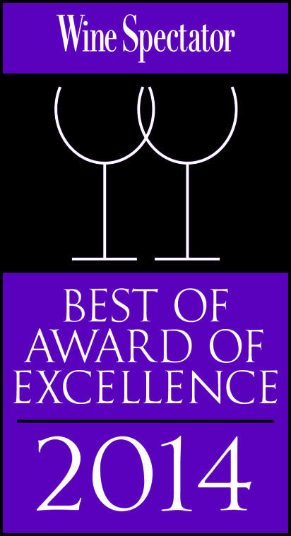 Wine Spectator 2014 Best of Award of Excellence