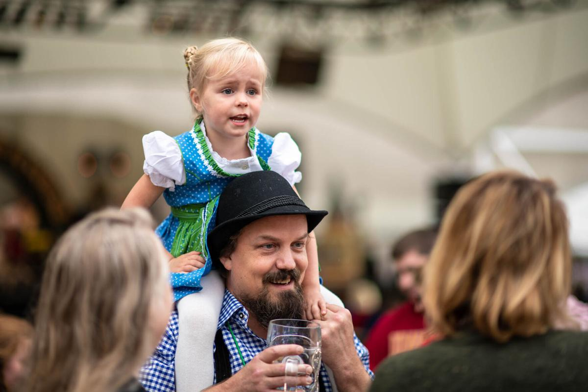 Individuals of all ages enjoy the KC Oktoberfest.