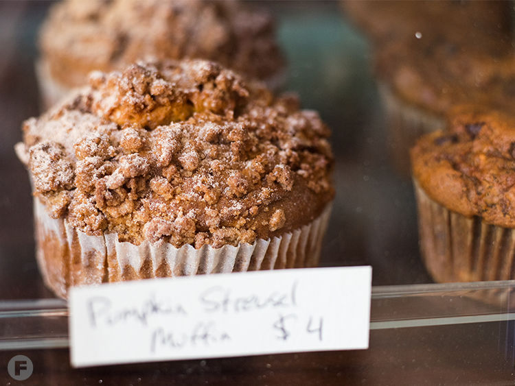 The Cheshire Cat Grin Cafe Muffin