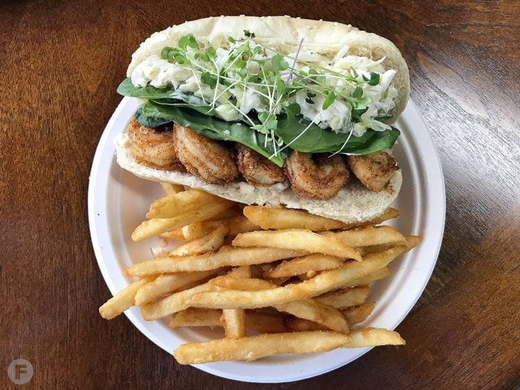 American Fusion Café Shrimp Po Boy