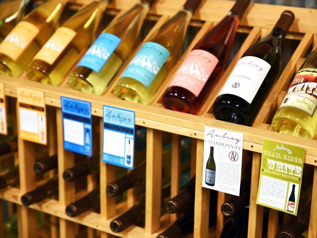 Aubrey Vineyards Tasting Room Wines