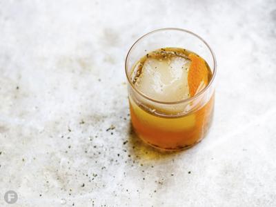 Black Pepper-Honey Old Fashioned