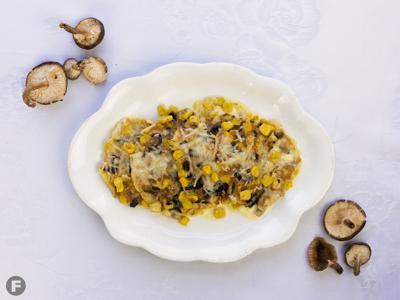 Wild Mushroom and Corn Pancakes