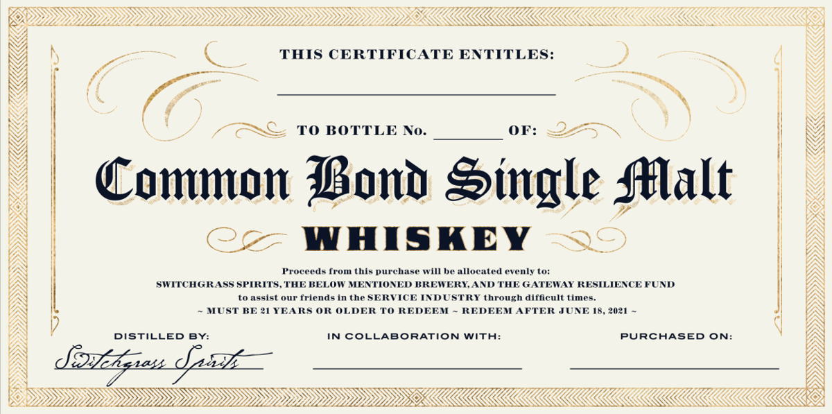 Common Bond certificate