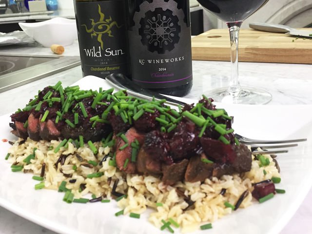 Seared Wild Duck Breasts with Blackberry-Wine Sauce