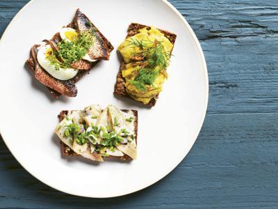 Pickled Herring Smørrebrød Three Ways