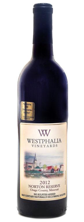 Westphalia Vineyards' 2012 Norton Reserve