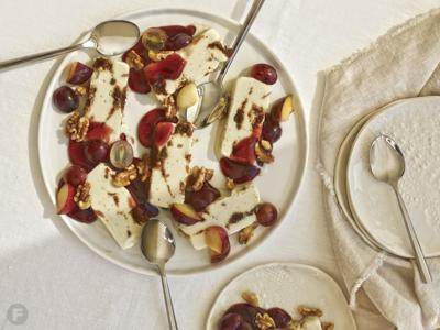 Quark-Roquefort Ice Cream with Balsamic-Fig Jam