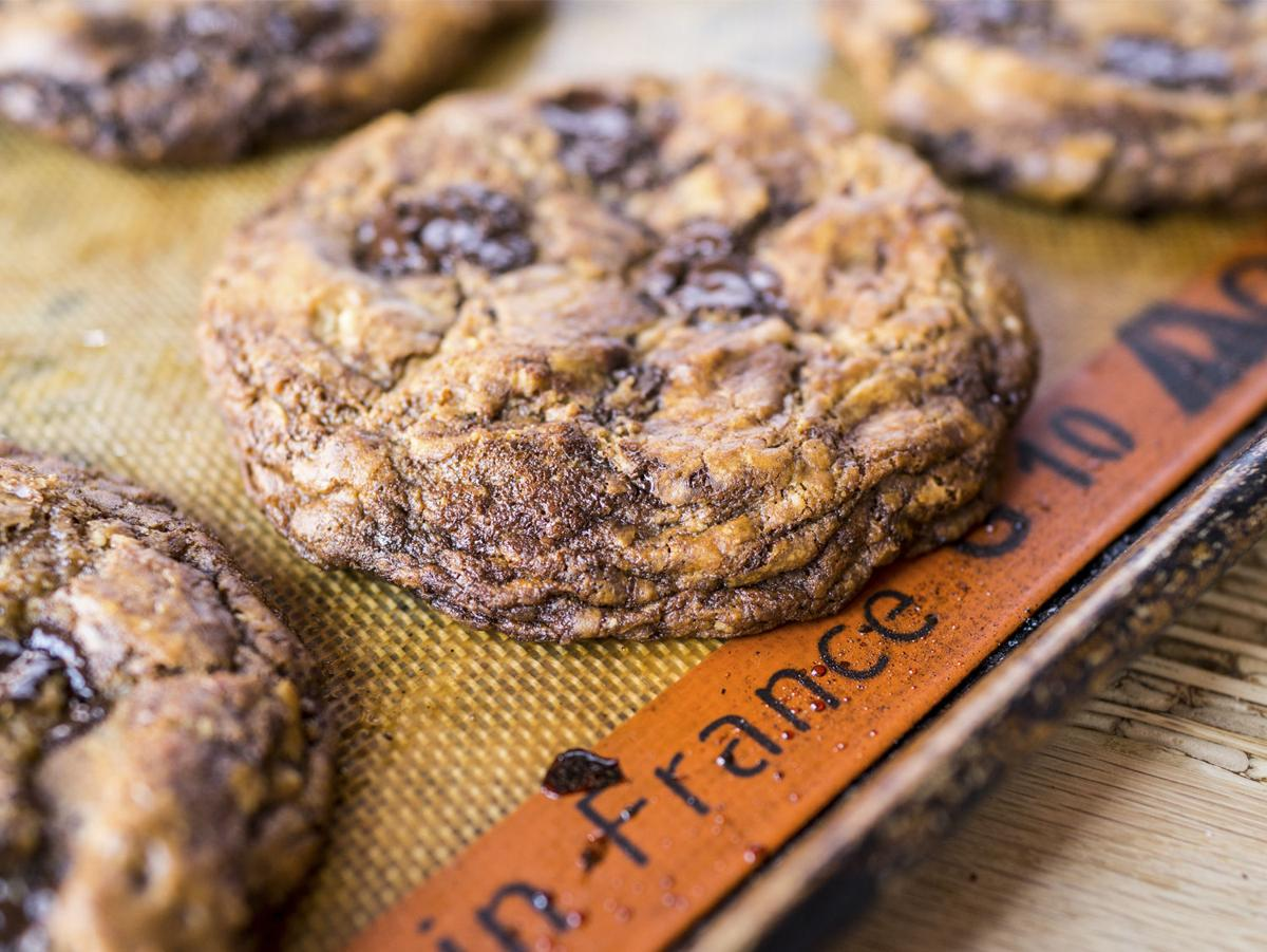 High Low Chocolate Chip Cookie