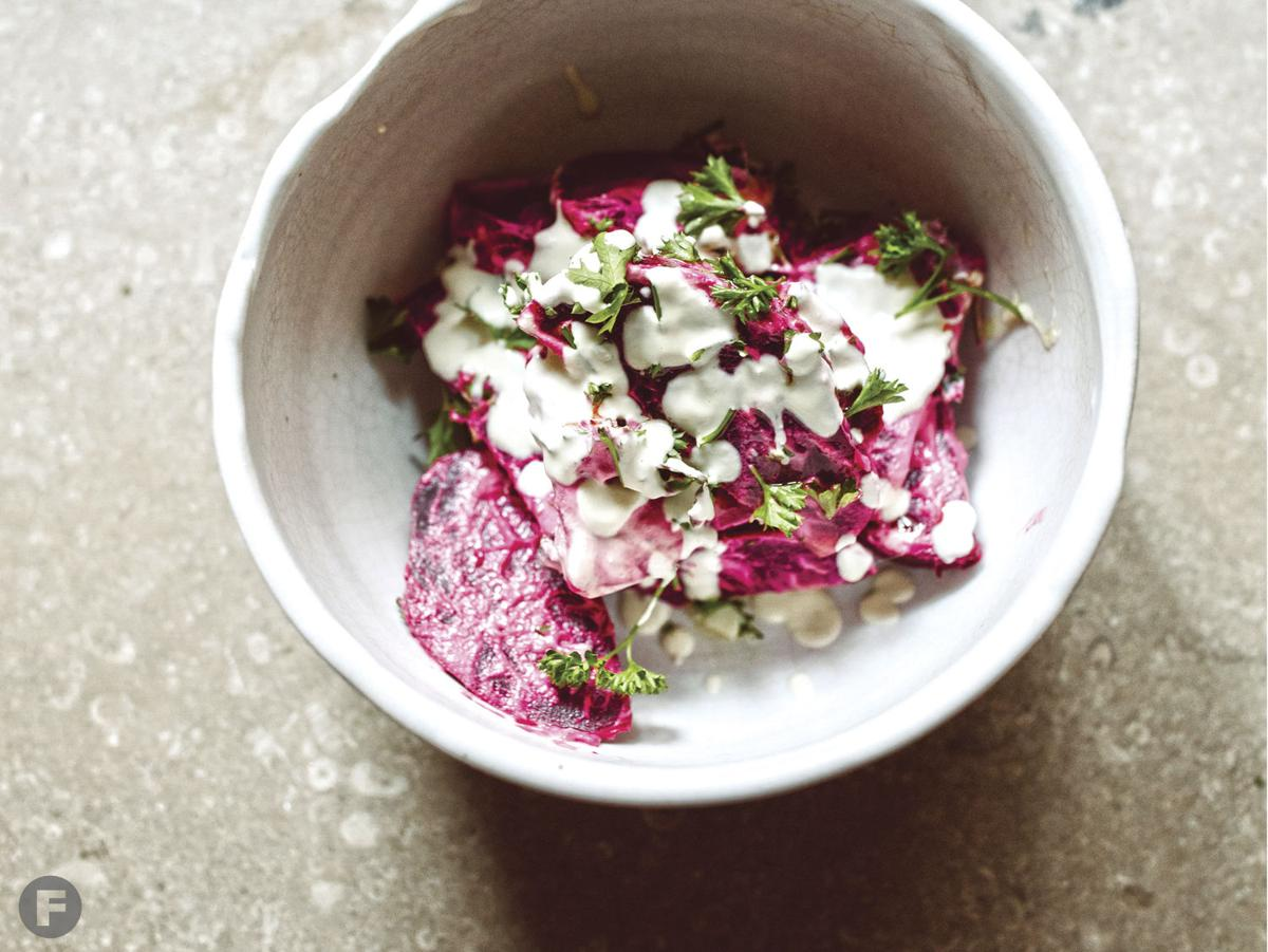 Beets with Cashew Cream