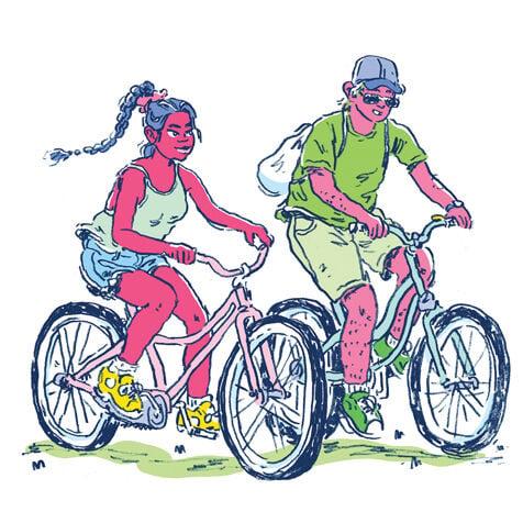 Road Trip illustration bikes
