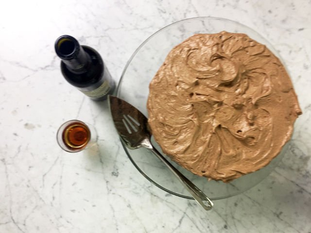 Chocolate Stout Layer Cake with Coffee Buttercream