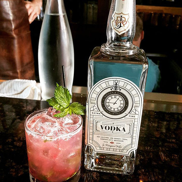 J. Rieger vodka with cocktail