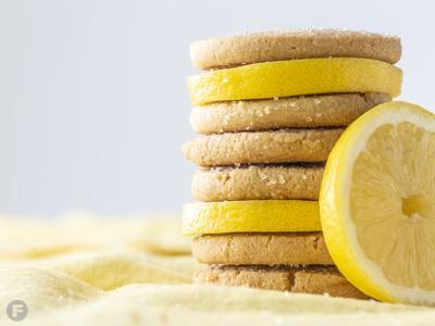 Lemon-Cornmeal Shortbread Cookies