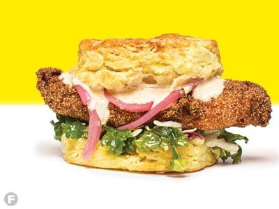 Ozark Mountain Biscuit Co. Cajun Catfish Sandwich