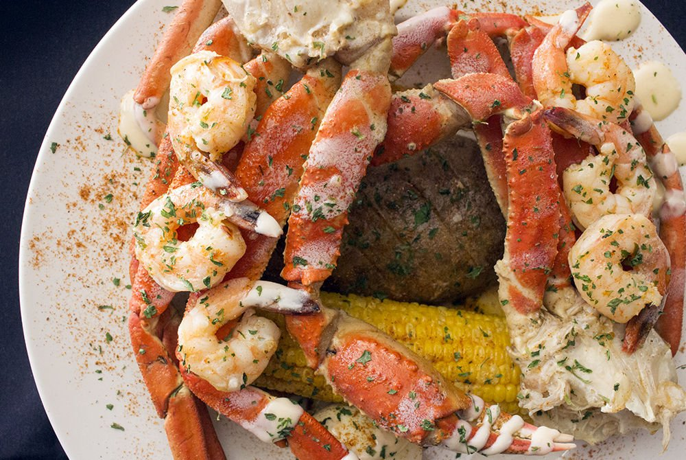Seafood By Crushed Velvet Snow Crab Platter