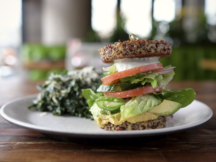 True Food Kitchen Inside Out Quinoa Burger