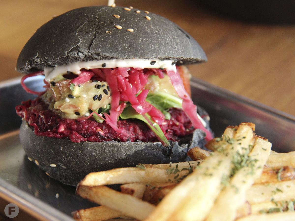 Pirate's Bone Burgers Beet Burger