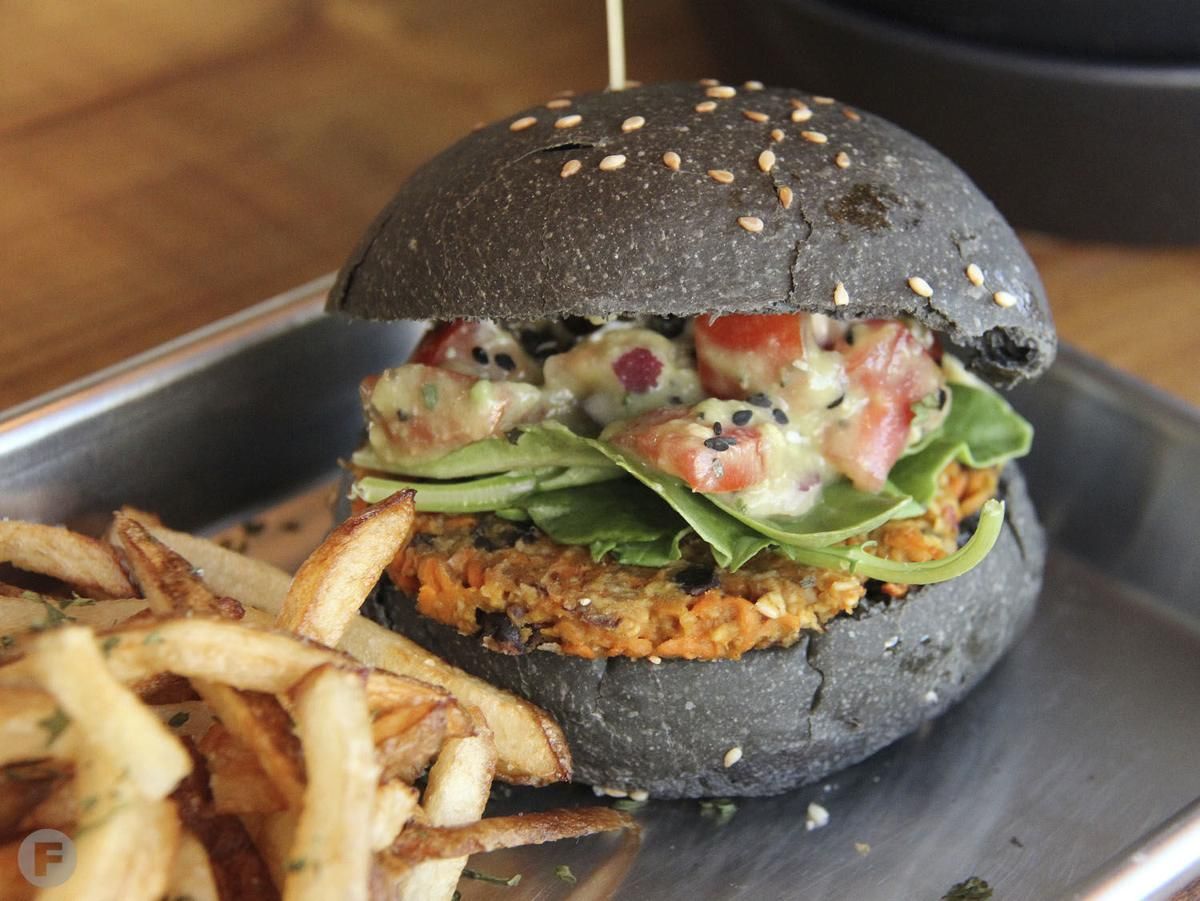 Pirate's Bone Burgers Carrot Black Bean Burger