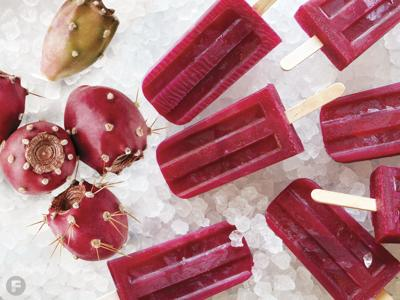 Prickly Pear & Tequila Ice Pops