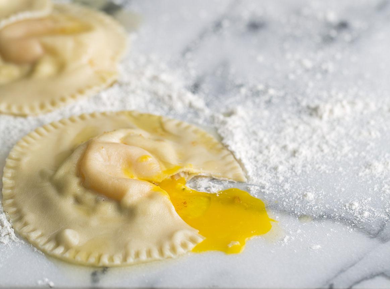 Homemade Egg Yolk Ravioli