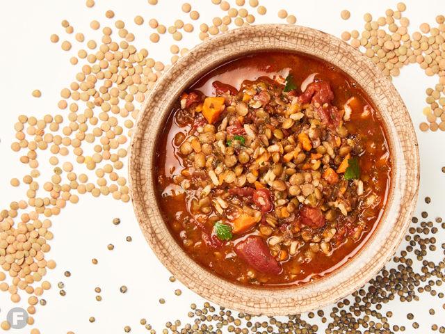 lentil & rice soup