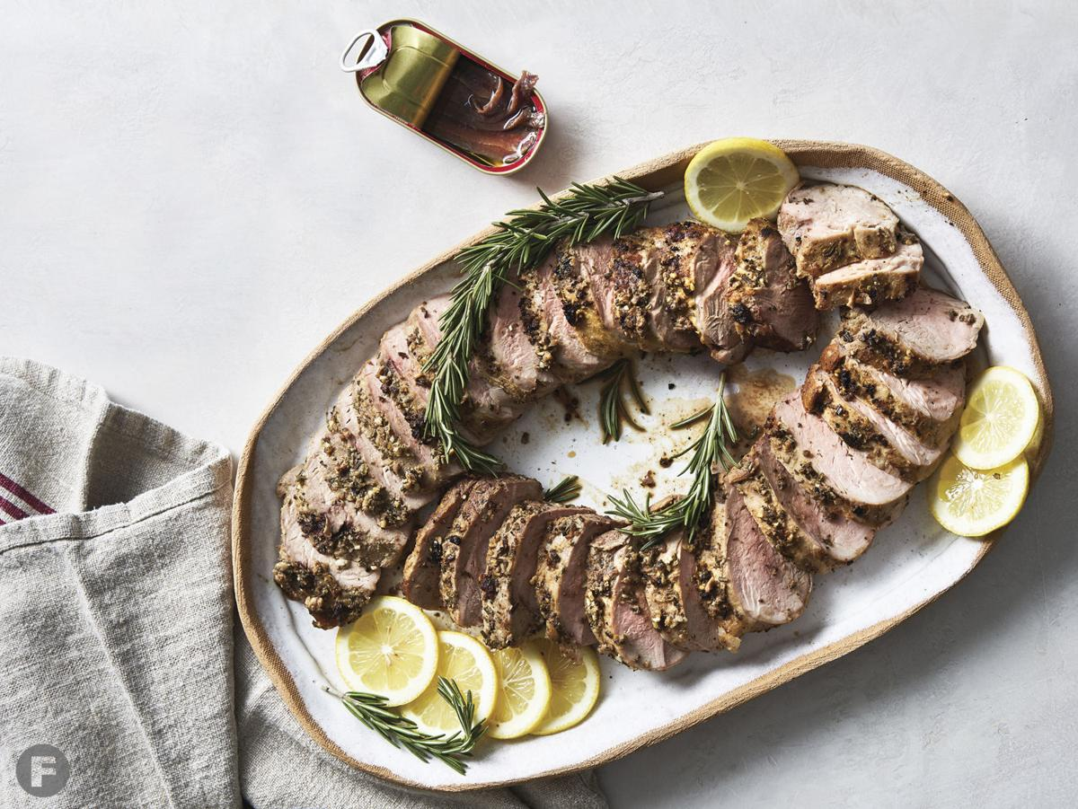 Anchovy-Rubbed Pork Tenderloin with Anchovy-Lemon Butter