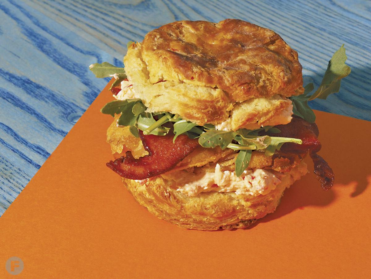 Ozark Mountain Biscuit sandwich