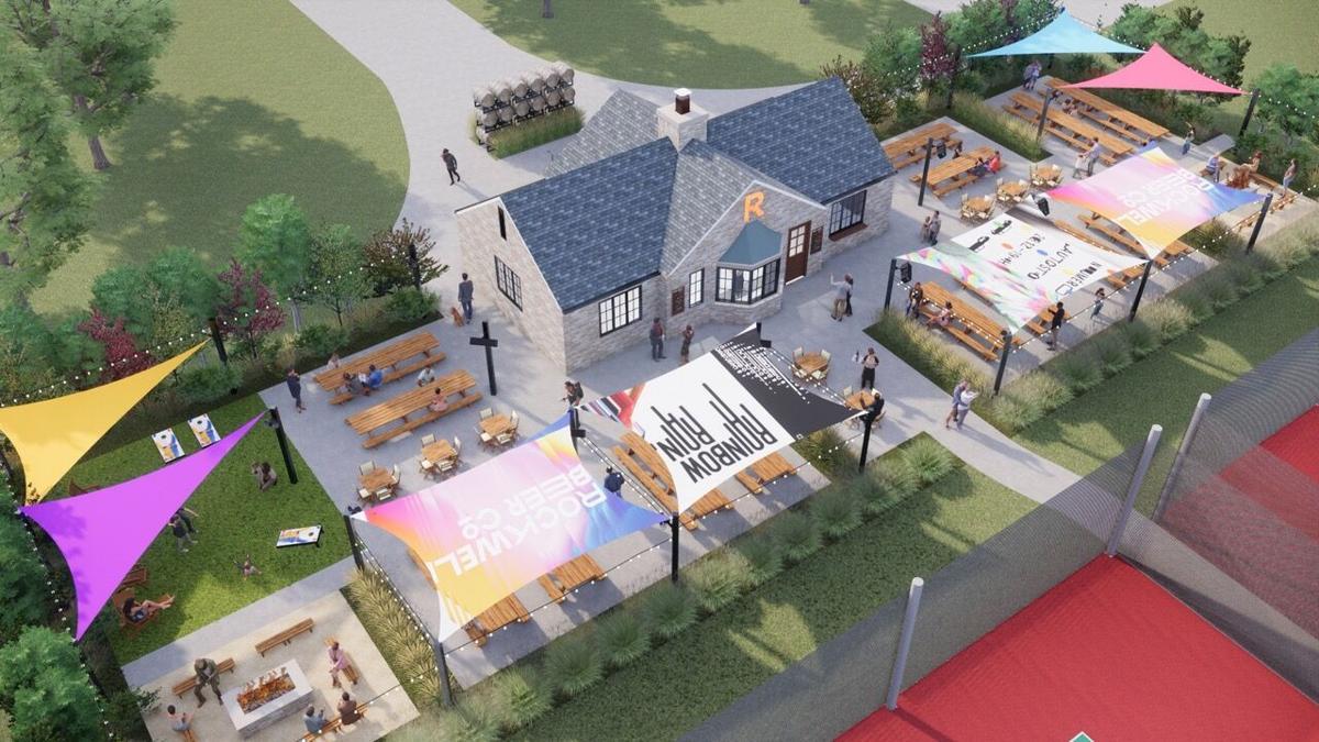 RBC Beer Garden rendering from above