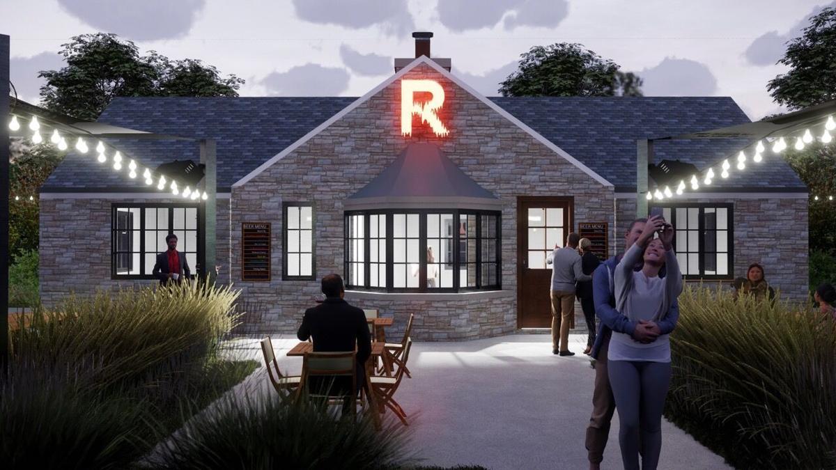 RBC Beer Garden exterior rendering