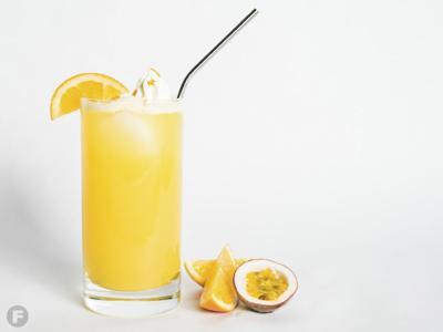 Passion Fruit-Dreamsicle Agua Fresca Cocktail