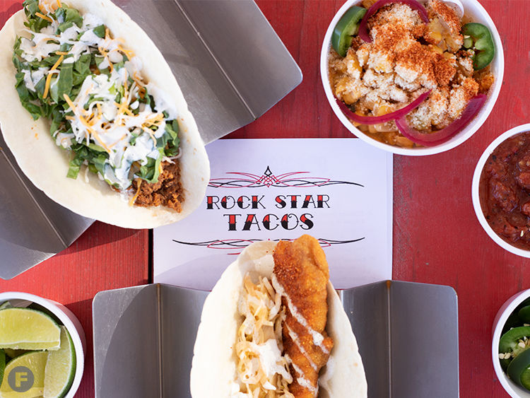 Rock Star Taco Shack Dishes