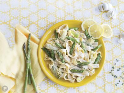 Pappardelle With Lemon, Baby Artichokes and Asparagus