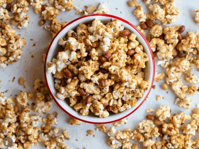 Cacao Nib & Salted Peanut Caramel Popcorn