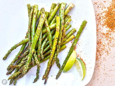 Grilled Asparagus with Togarashi and Lime
