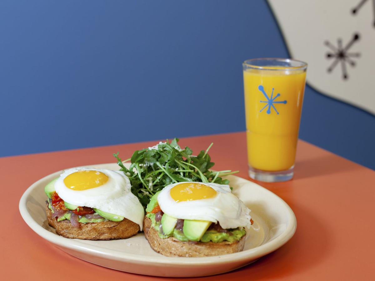 Snooze, an A.M. Eatery Smashed Avocado Benny