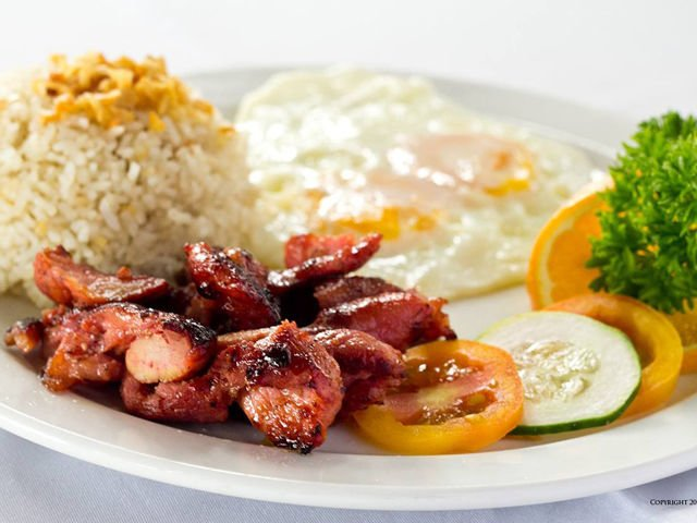 Enjoy A Menu Of Fried Rice Longanisa Tocino Dried Fish Fresh Fruits Coffee Juice And More At The Pinoy Breakfast