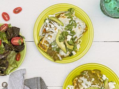 Farmers' Market Enchiladas