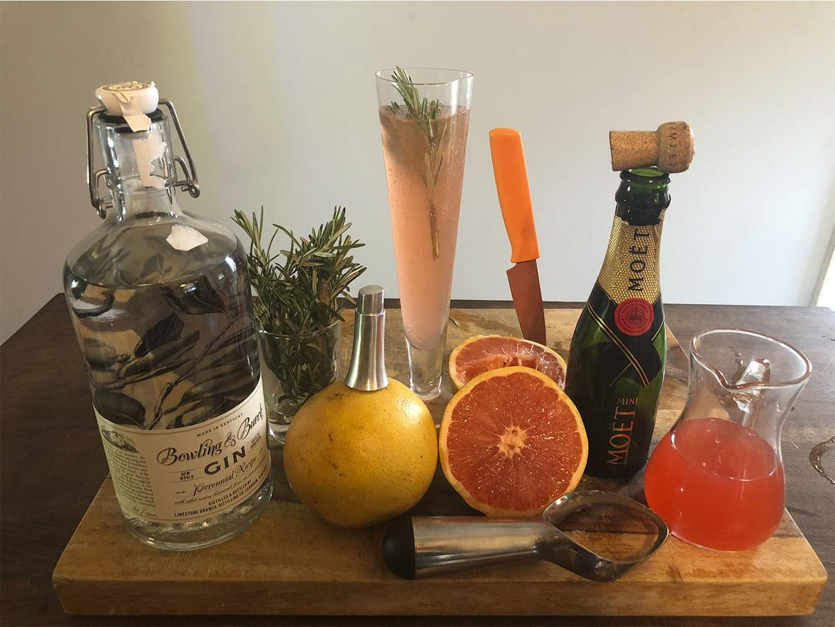 Rosemary & Grapefruit Mimosa