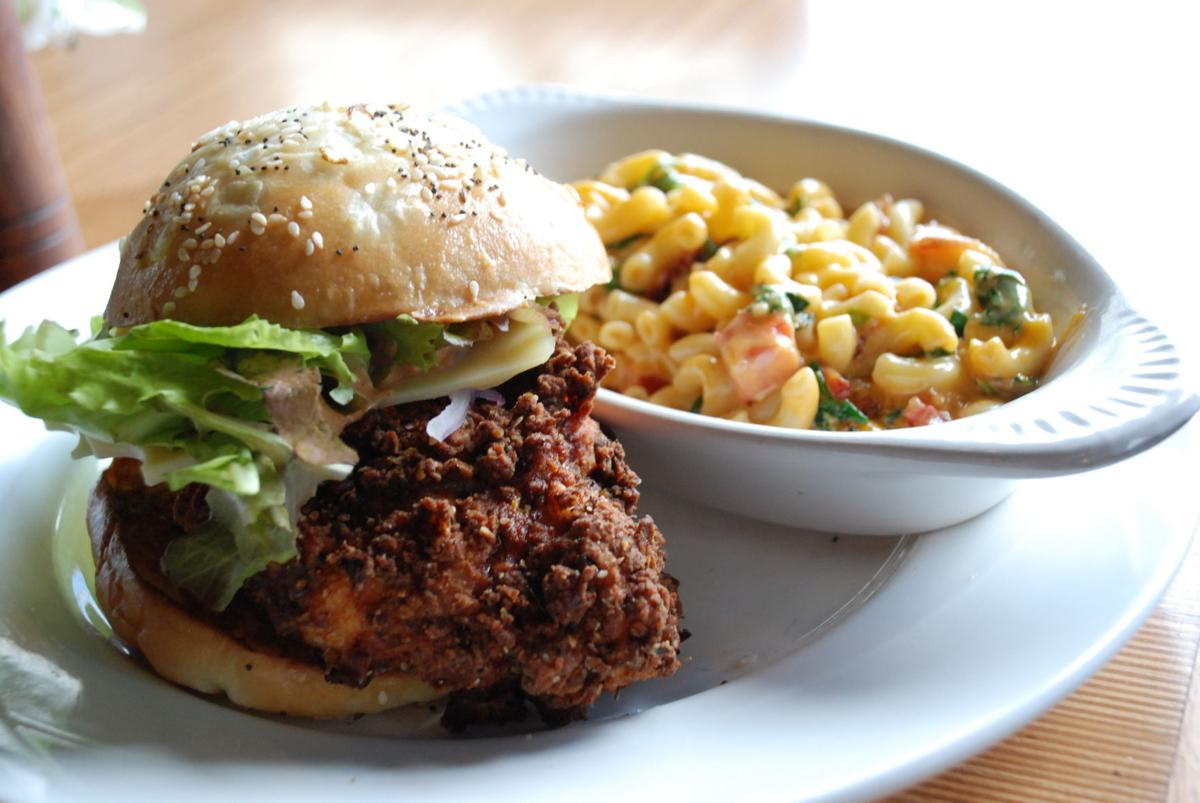 The Homesteader Cafe Fried Chicken Sandwich