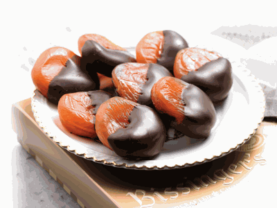 Bissinger's Dark Chocolate-Dipped Apricots