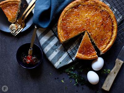 Chèvre Cheesecake With Pecan-Pretzel Crust