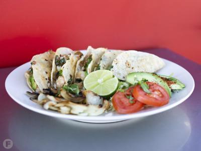 Tacos El Champu Crunchy Shrimp Tacos