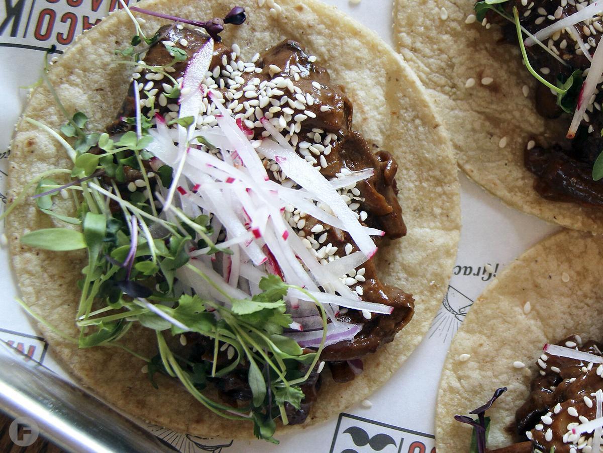 Taco Naco Mushroom Chipotle Mole