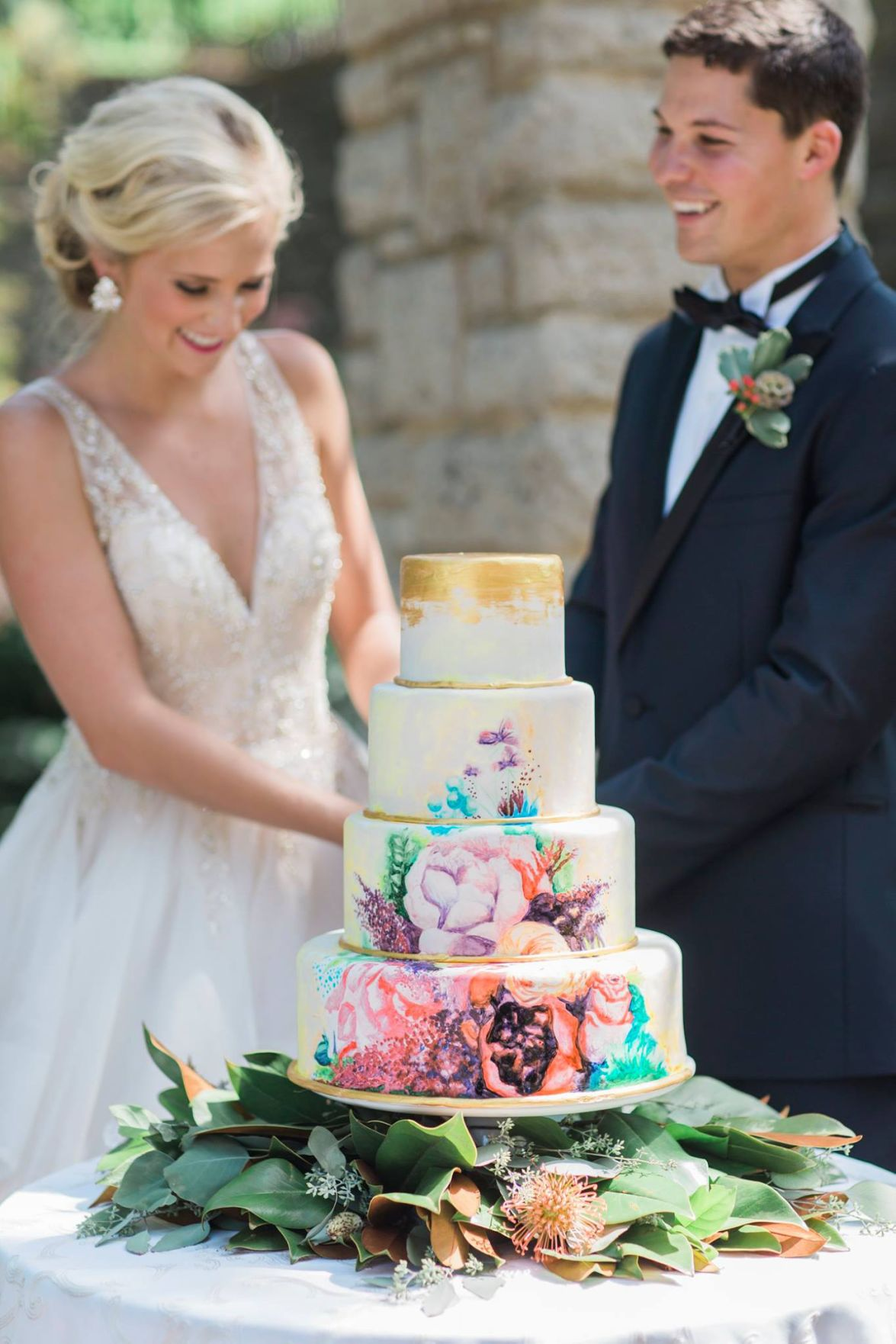 The Painted Cake Co. Wedding Cake