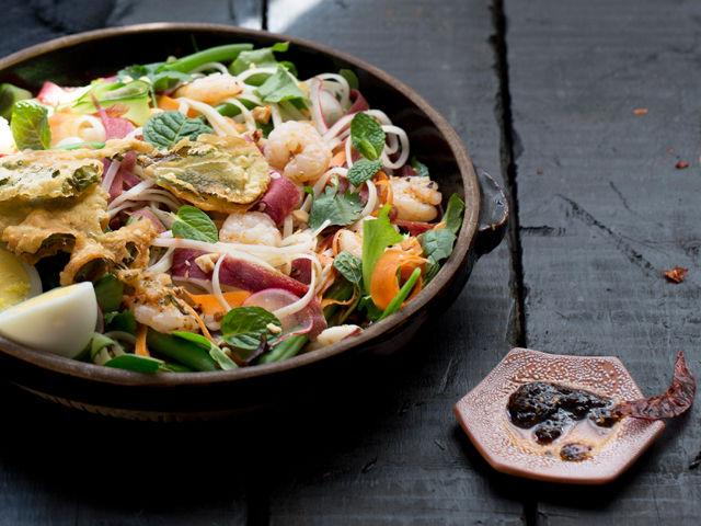 Yum Yai Salad with Chile Jam Dressing