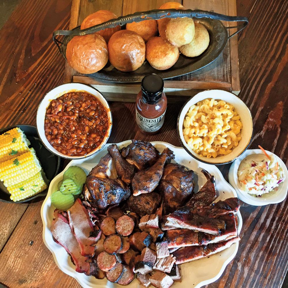 Summit Hickory Pit BBQ Cowboy Sampler