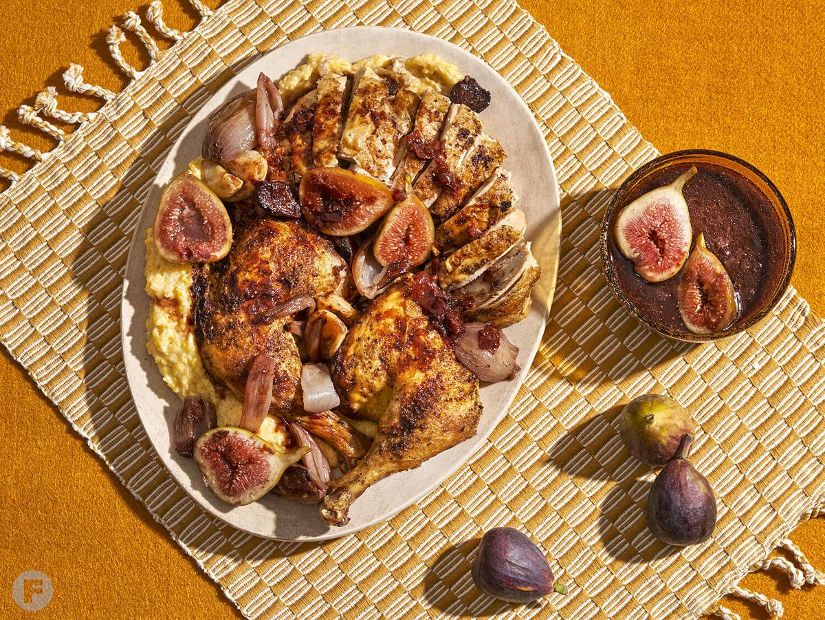 Roast Chicken with Port-Soaked Figs