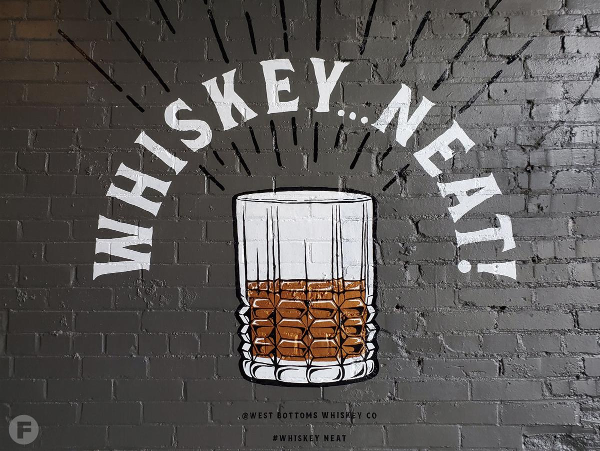 West Bottoms Whiskey mural