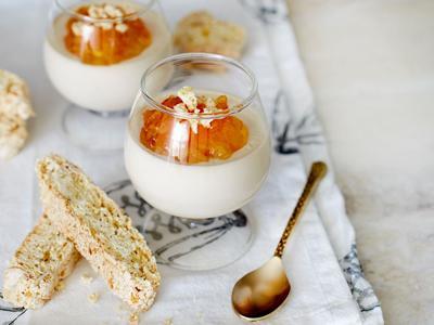 Earl Grey Panna Cotta with Lemon-Almond Biscotti